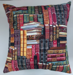 "Cushion Cover in Timeless Treasures Vintage Library Books Gold 14"" 16"" 18"" 20"""